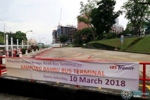 New Bridge Road Bus Terminal - Relocation Banner