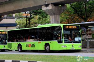 LRT Shuttle A: SMRT Buses Mercedes-Benz Citaro (SG1021X)
