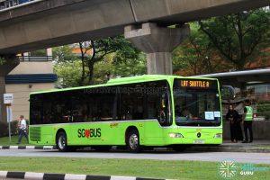 LRT Shuttle A: SMRT Buses Mercedes-Benz Citaro (SG1022T)