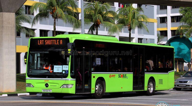 LRT Shuttle A: SMRT Buses Mercedes-Benz Citaro (SG1027E)