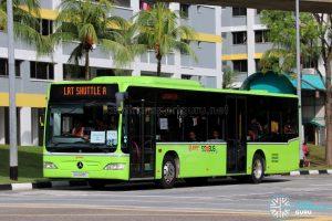 LRT Shuttle A: SMRT Buses Mercedes-Benz Citaro (SG1028C)