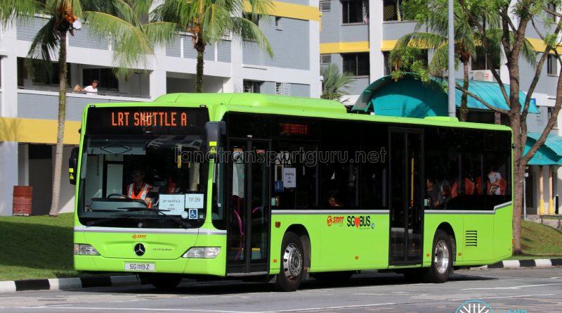 LRT Shuttle A: SMRT Buses Mercedes-Benz Citaro (SG1119Z)