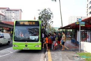 LRT Shuttle B: SMRT Buses Mercedes-Benz Citaro (SG1134D)