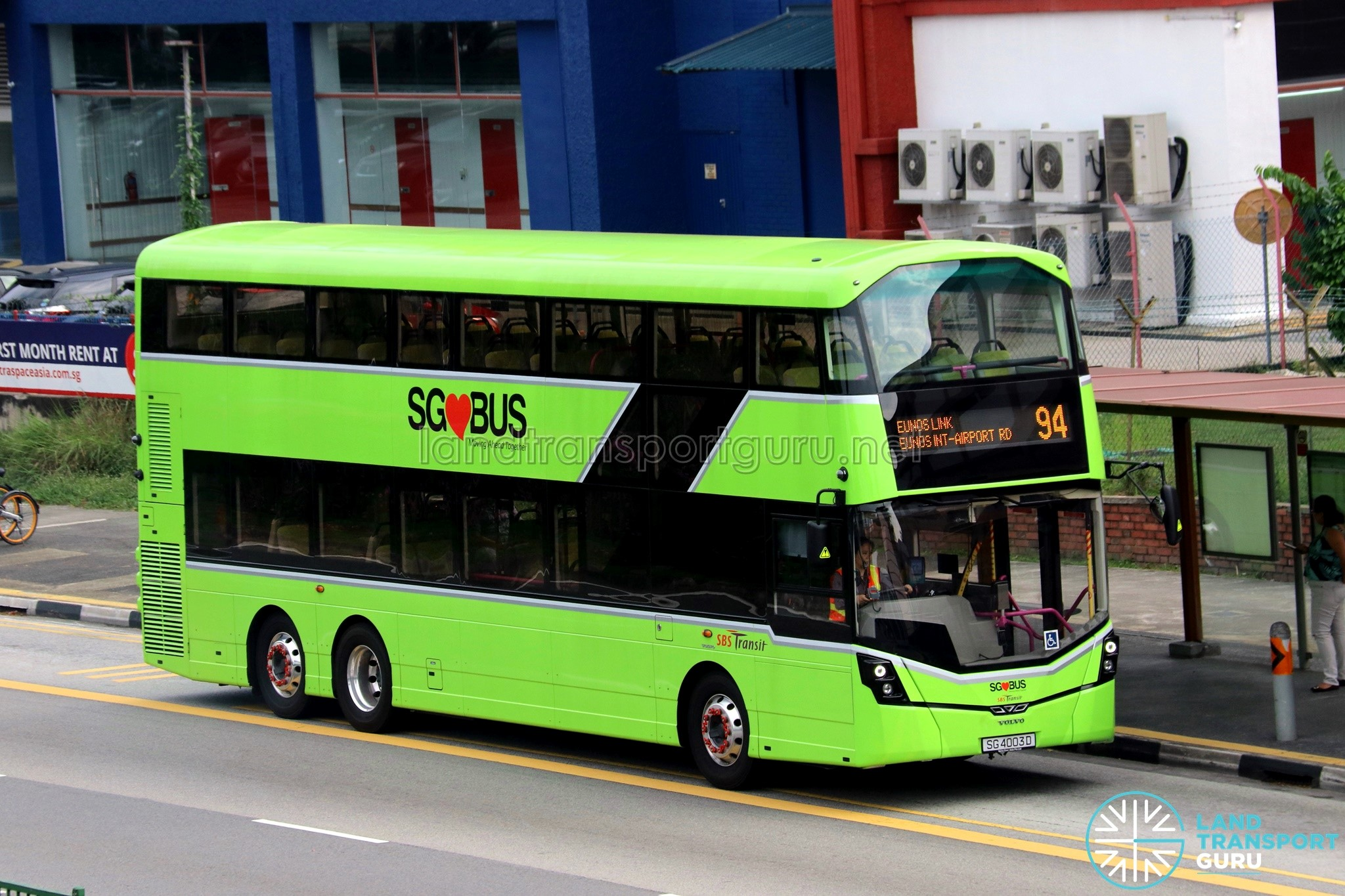 SBST Volvo B8L Demonstrator