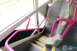 Volvo B8L (SG4003D) - Staircase from Upper Deck with glass panels covered