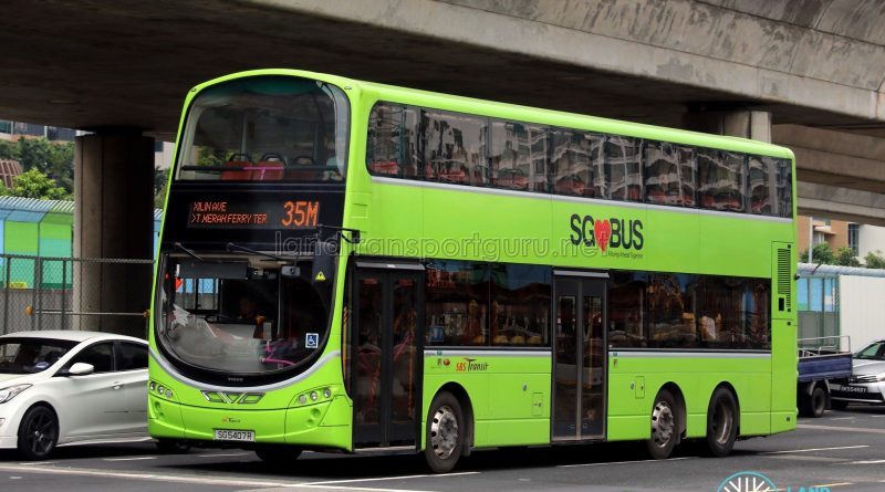 Service 35M: SBS Transit Volvo B9TL Wright (SG5407R)