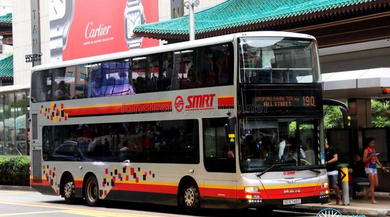 Service 190 - SMRT Buses MAN A95 (SG5748G)