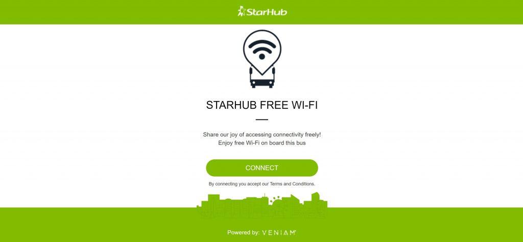 Service 7 Free Wi-Fi: Launch screen