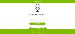 Service 7 Free Wi-Fi: Launch screen