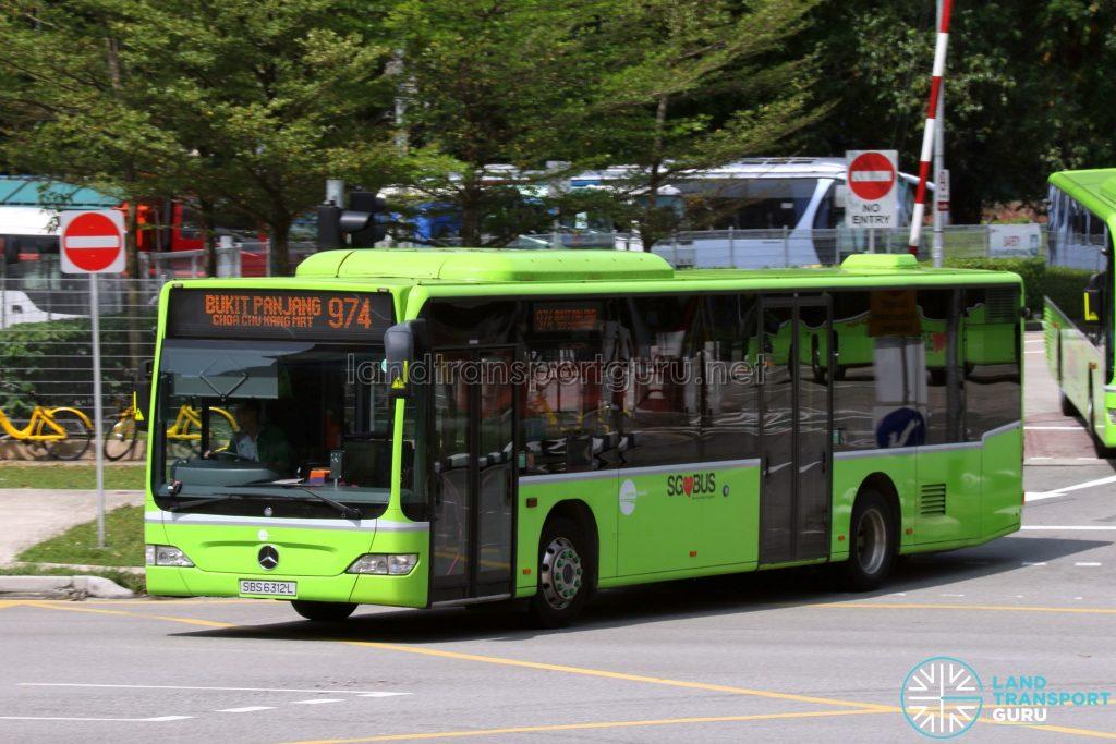 Service 974: Tower Transit Mercedes-Benz Citaro (SBS6312L)