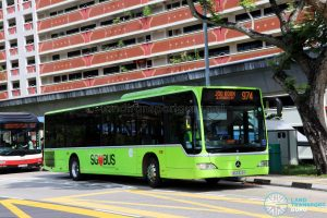 Service 974: Tower Transit Mercedes-Benz Citaro (SBS6322H)