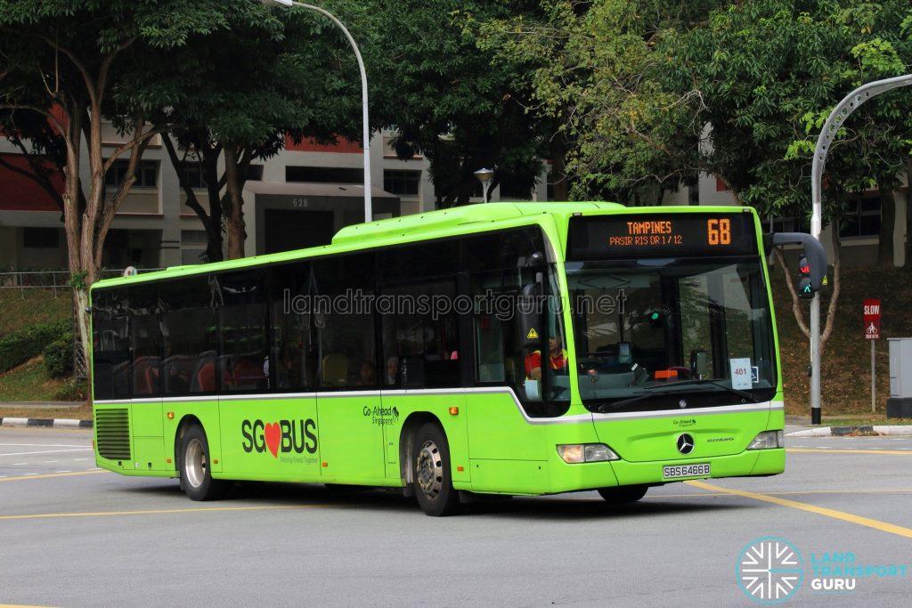 Service 68: Go-Ahead Mercedes-Benz Citaro (SBS6466B)