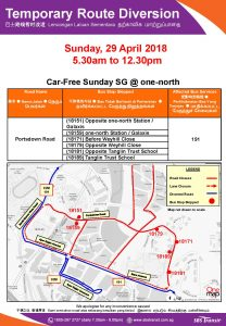 Car-Free Sunday SG @ one-north Route Diversion Poster