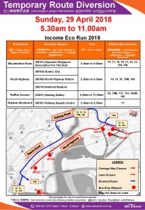 SBS Transit Income Eco Run 2018 Route Diversion Poster