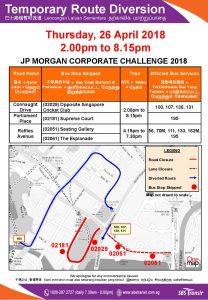 SBS Transit Diversion Poster for JP Morgan Corporate Challenge 2018