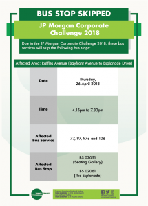 Tower Transit Diversion Poster for JP Morgan Corporate Challenge 2018