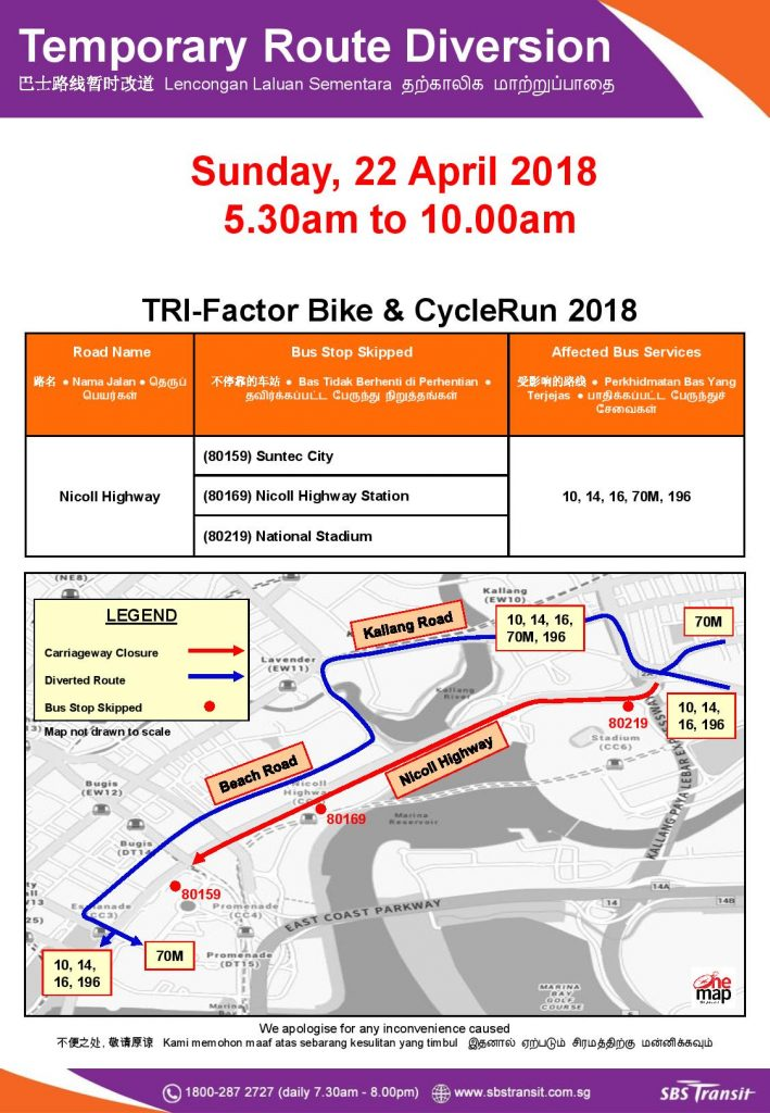SBS Transit Poster for TRI-Factor Bike & CycleRun 2018