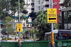 Bukit Panjang LRT Full Sunday Closure Signage