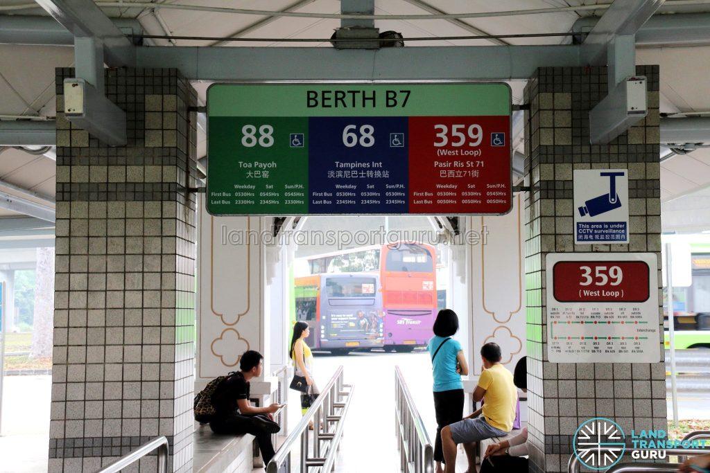 Service 68 - Berth at Pasir Ris Interchange