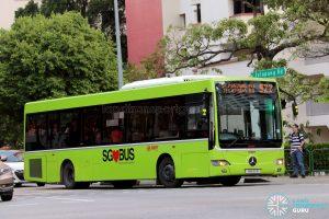 Service 922 - SMRT Buses Mercedes-Benz OC500LE (SMB110B)
