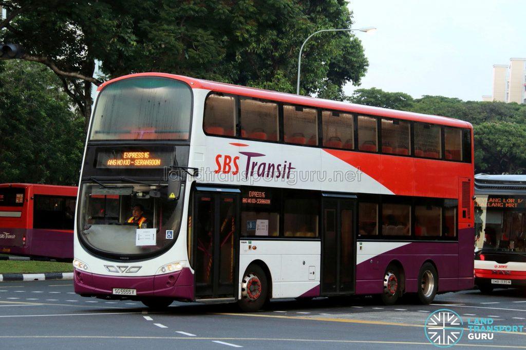 Express 16: SBS Transit Volvo B9TL Wright (SG5555X)