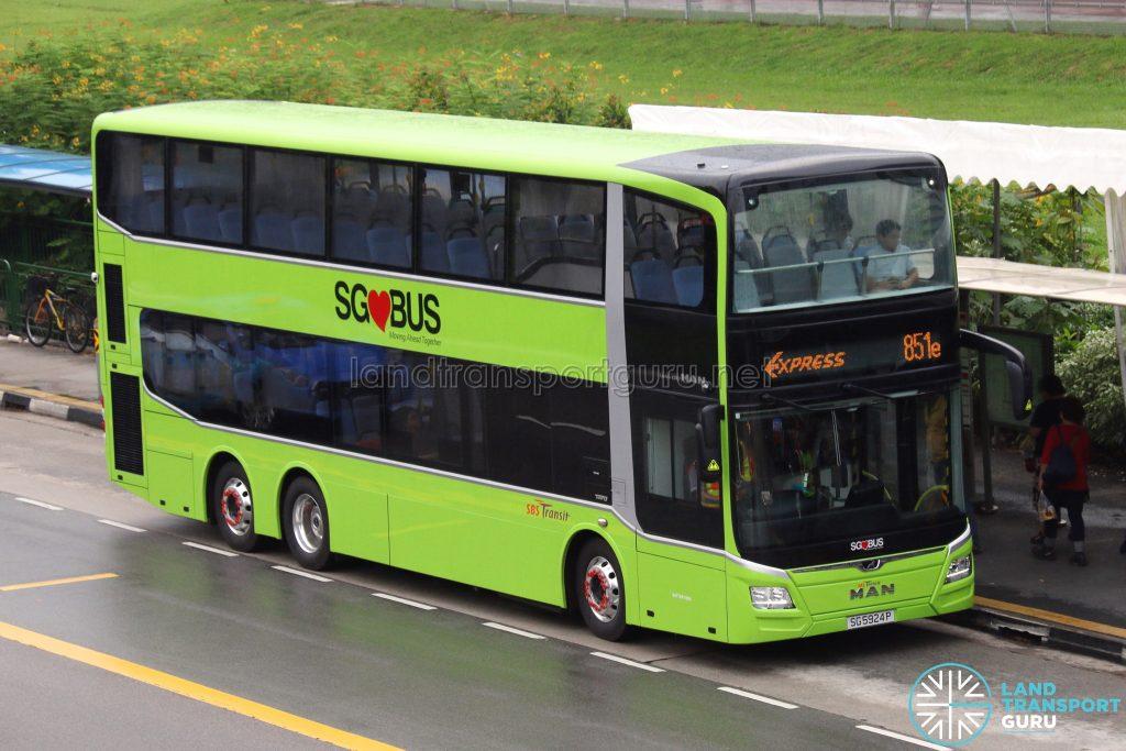 SBS Transit Express Bus Service 851e - MAN A95 Euro 6 (SG5924P)