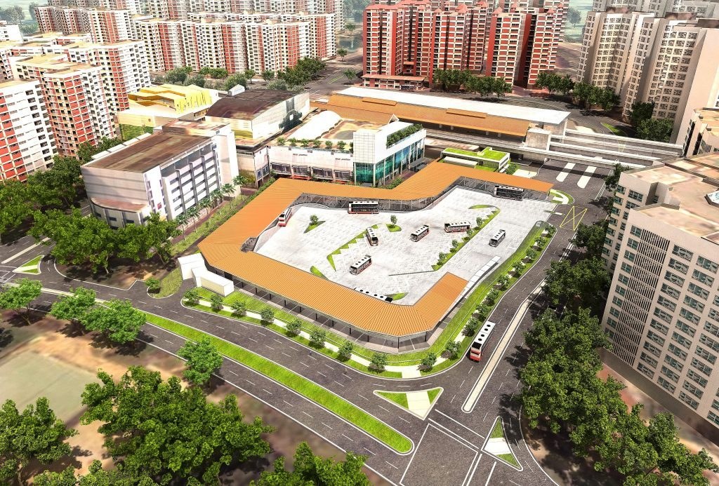 Choa Chu Kang Bus Interchange - Artist's Impression. Source: Kimly Construction