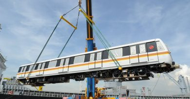 CT251 train delivered to Singapore (Photo: LTA)