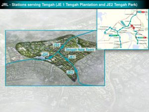 Tengah Plantation and Tengah Park: JRL Station Diagram
