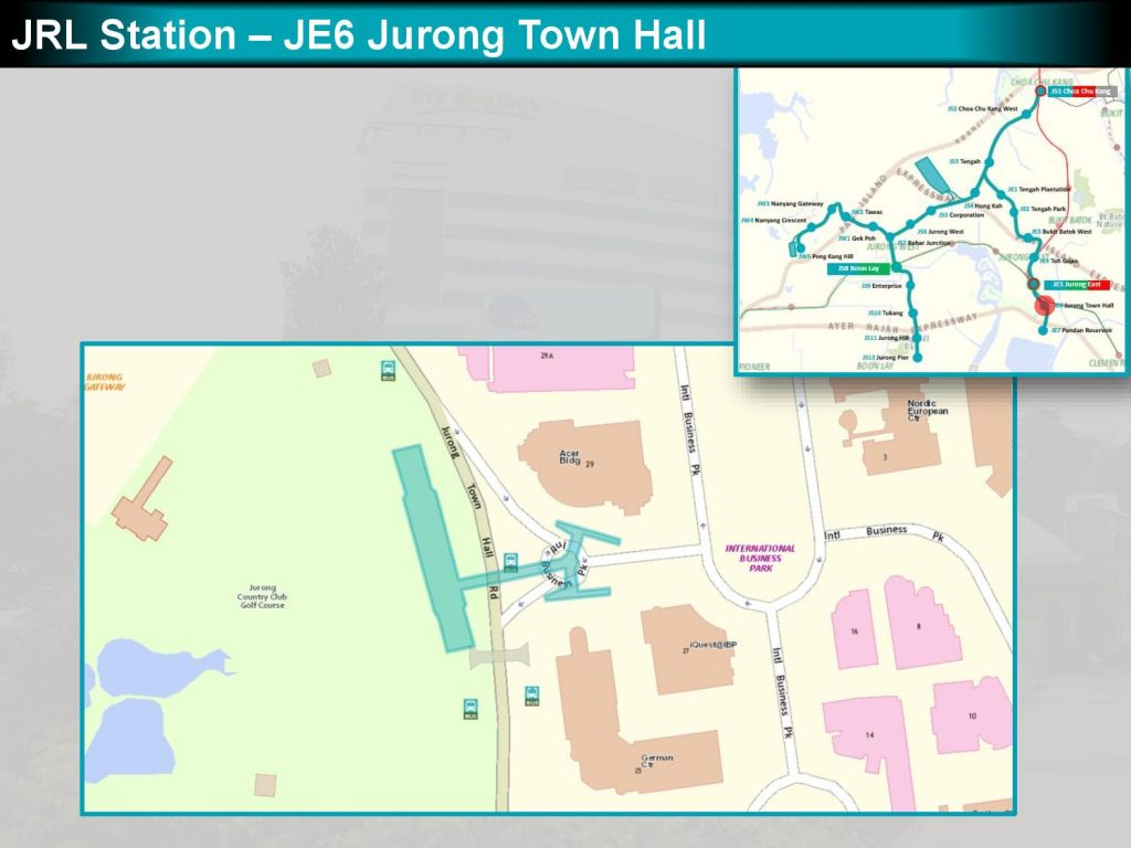 Jurong Town Hall: JRL Station Diagram