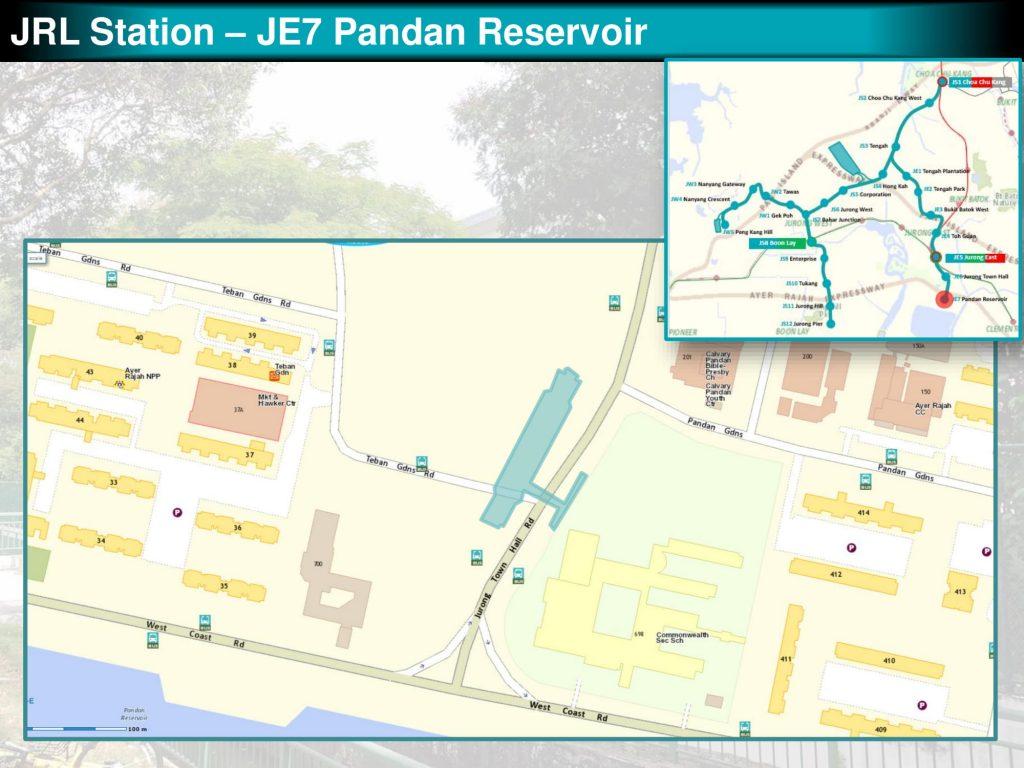 Pandan Reservoir: JRL Station Diagram