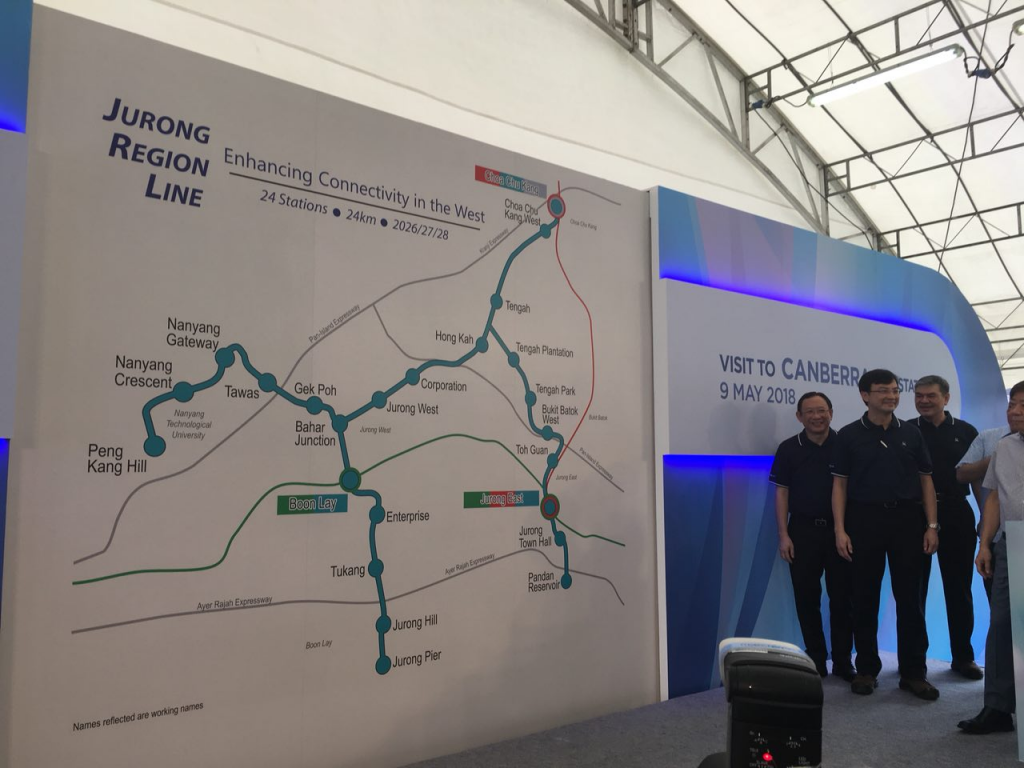 Jurong Region Line: Map with working names for stations (Photo: ST)