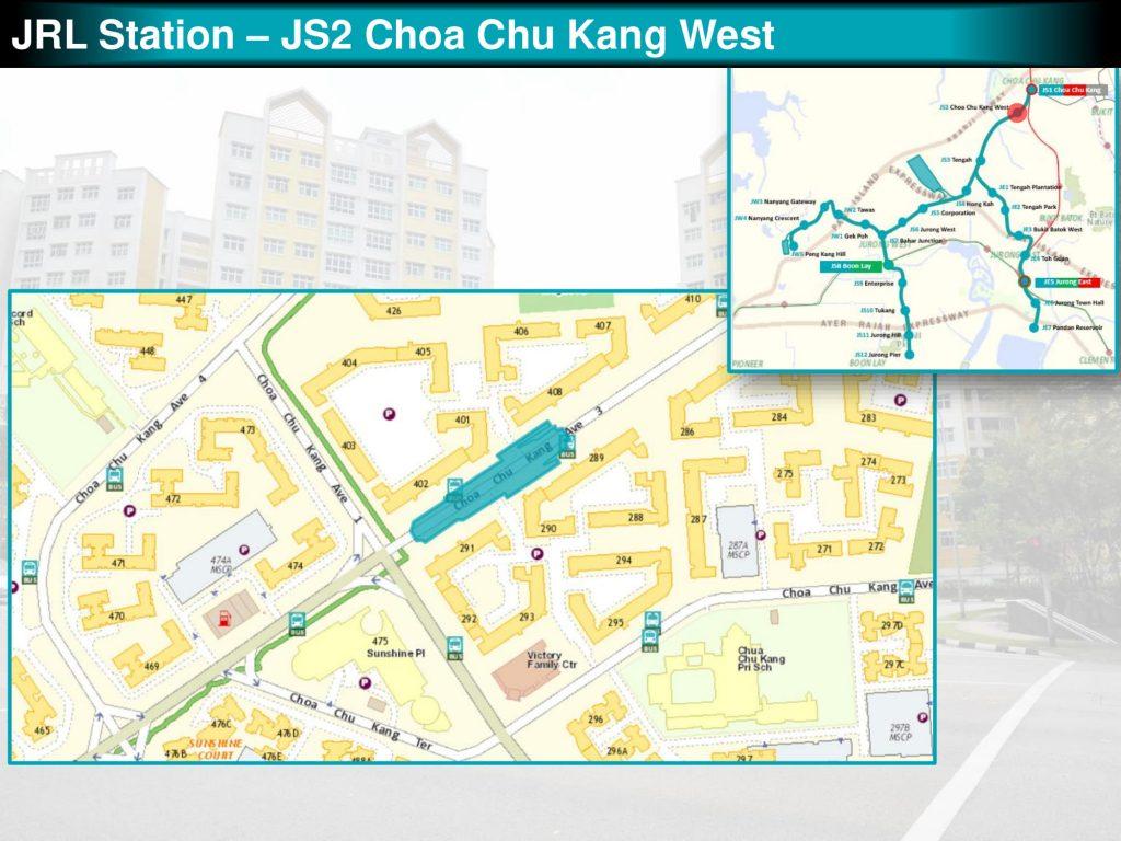 Choa Chu Kang West: JRL Station Diagram