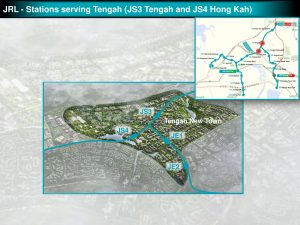 Tengah and Hong Kah: JRL Station Diagram