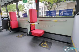 MAN A22 (Euro 6) - Wheelchair Bay (Foldable Chair & Handlebar deployed)