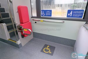 MAN A95 (Euro 6) - Rear wheelchair bay (Foldable seat stowed)