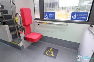 MAN A95 (Euro 6) - Rear wheelchair bay (Foldable seat deployed)