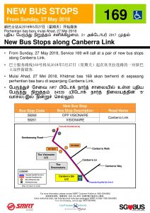 New Bus Stop for Service 169 along Canberra Link