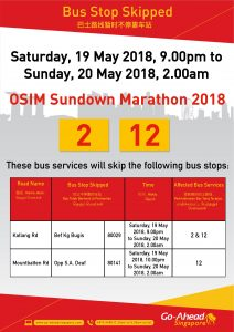 Go-Ahead Singapore Poster for OSIM Sundown Marathon 2018