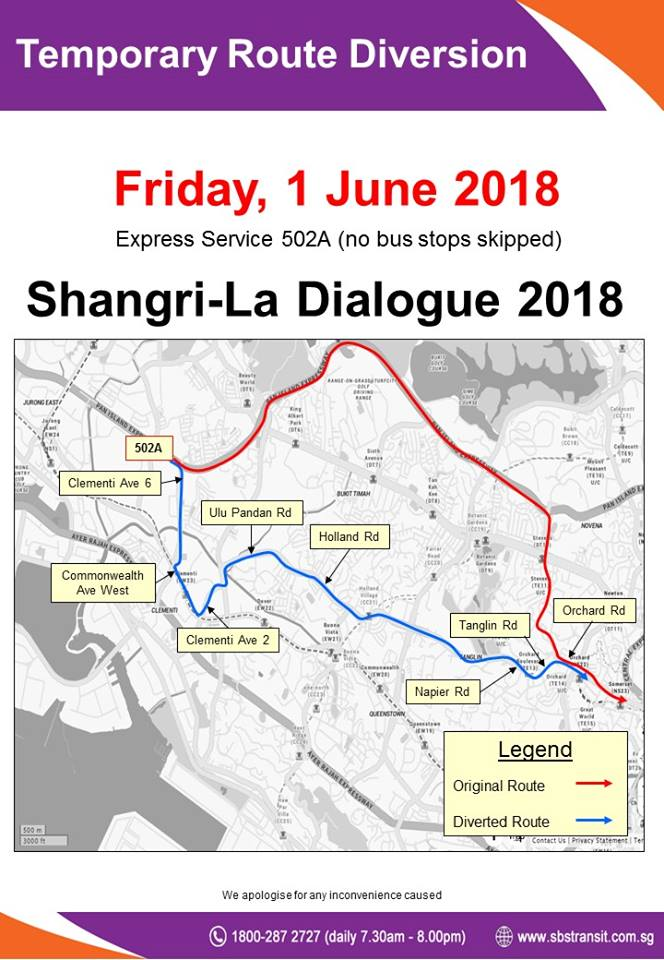SBS Transit Poster for Shangri-La Dialogue 2018