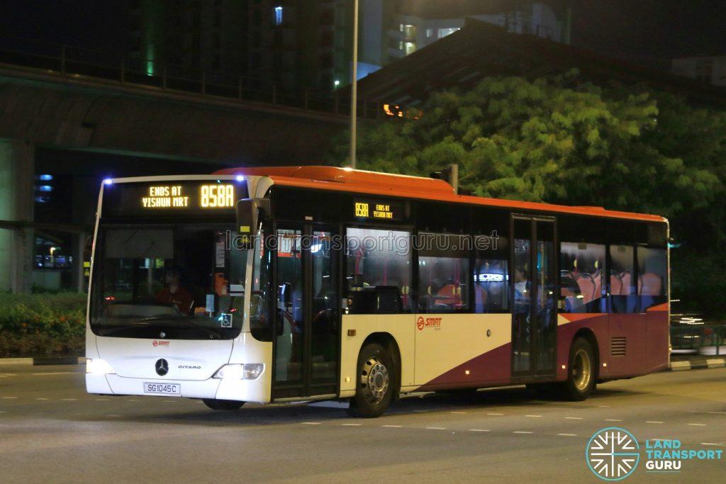 Service 858A - SMRT Buses Mercedes-Benz O530 Citaro (SG1045C)