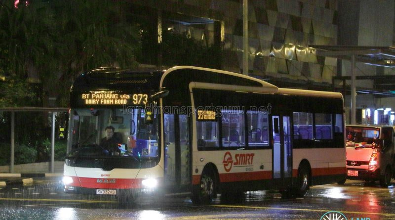 Service 973 - SMRT Buses MAN A22 (SMB324B)