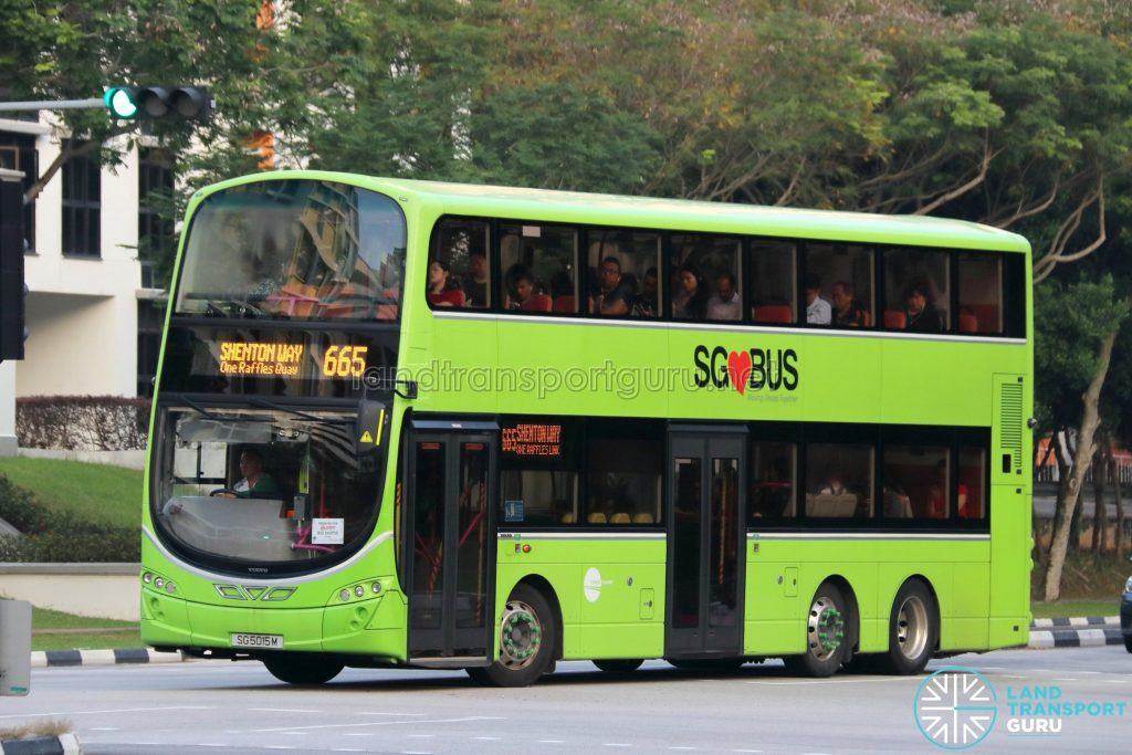 City Direct 665 - Tower Transit Volvo B9TL Wright (SG5015M)