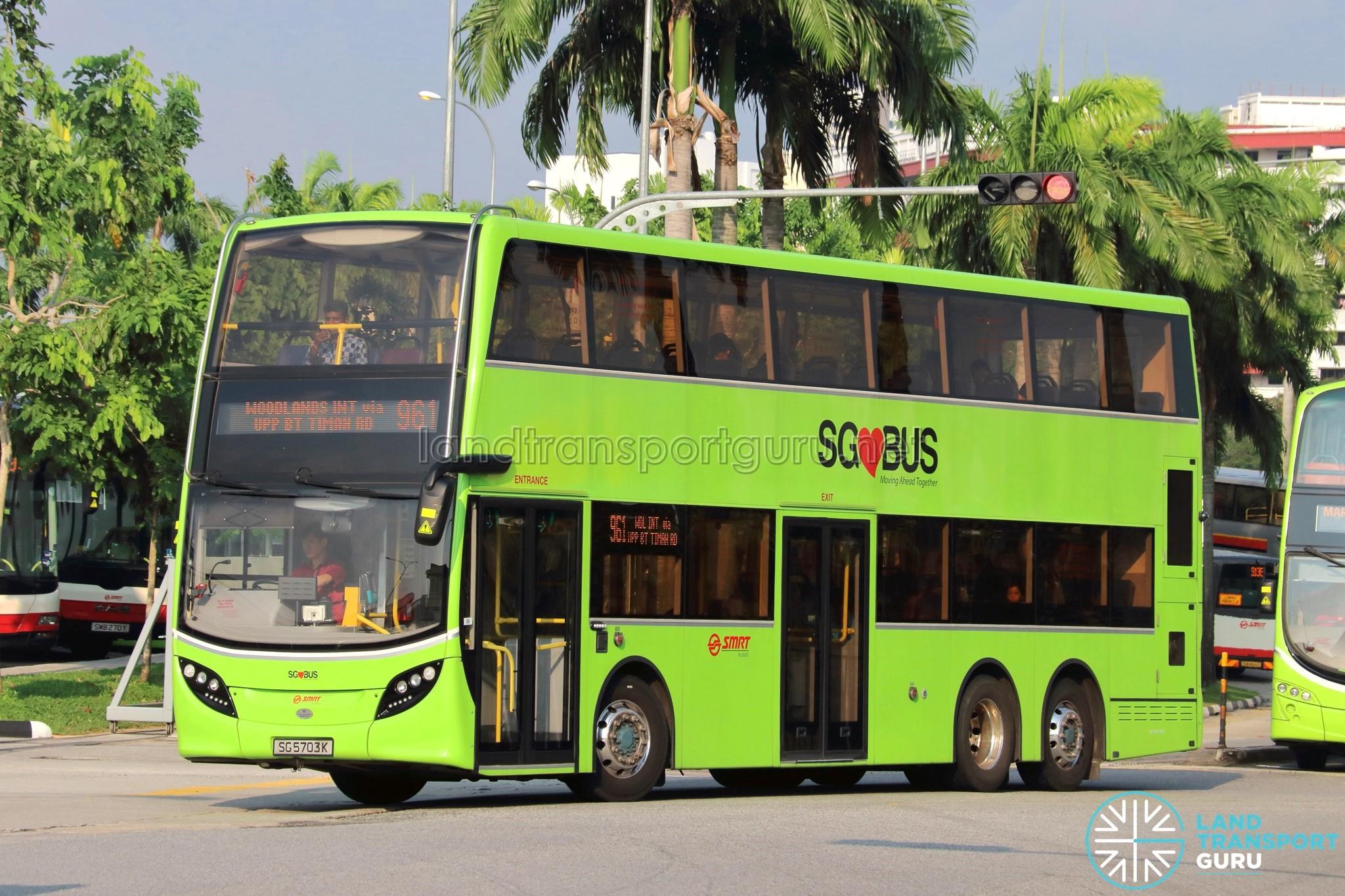 Service 961 - SMRT Buses Alexander Dennis Enviro500 (SG5703K)
