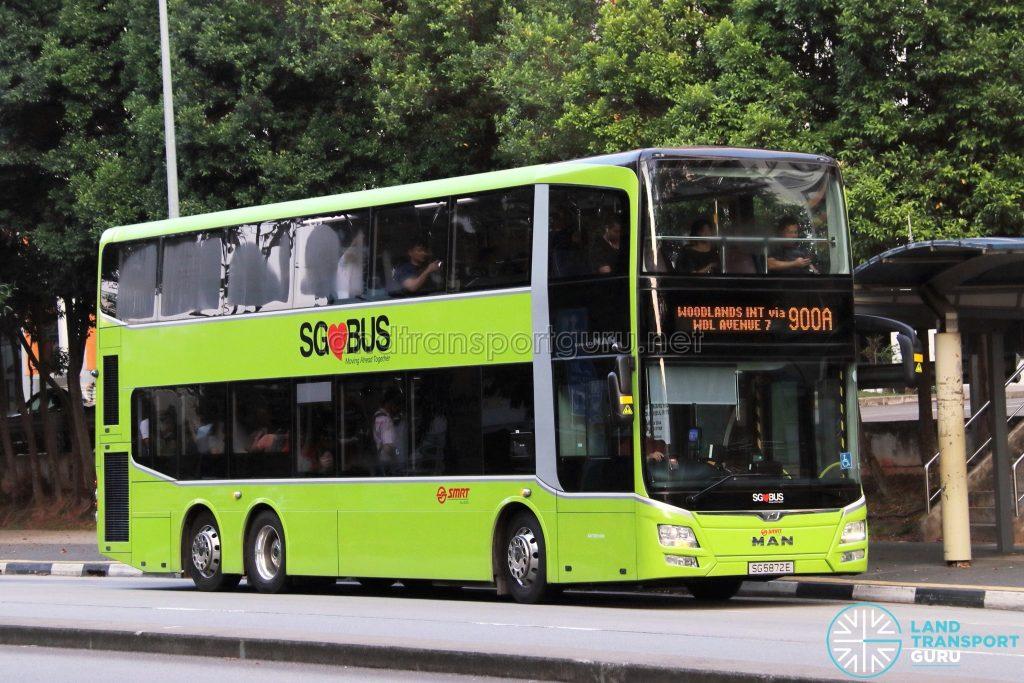 Service 900A - SMRT Buses MAN A95 (SG5872E)