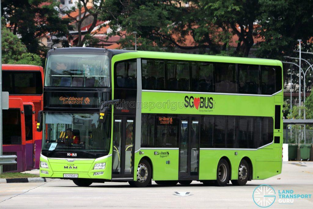 Go-Ahead MAN A95 (SG5904Y), equipped with I-SAW-U