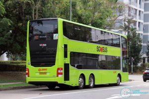 Service 922 - SMRT MAN A95 (SG5929B) - Rear