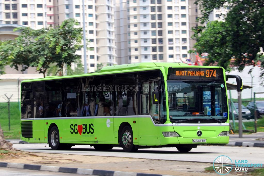 Service 974: Tower Transit Mercedes-Benz Citaro (SBS6318X)