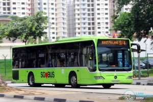 Service 974: Tower Transit Mercedes-Benz Citaro (SBS6318X)