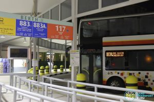 Service 883A Berth at Sembawang Bus Interchange